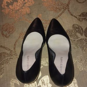 FRANCO SARTO LEATHER BLACK HIGH HEELS